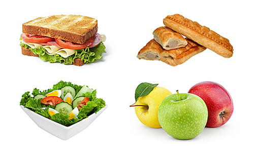 Food & Meal Vending Machines - Sandwich, Sausage Roll, Salad Bowl and Apples