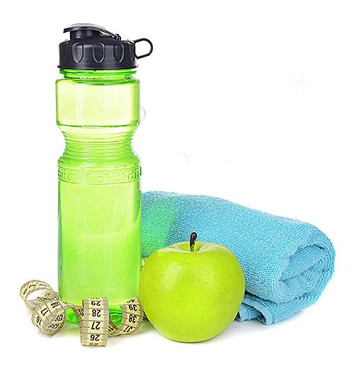 Health & Fitness Vending Machines - Sports Bottle, Apple & Towel